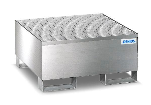 Spill Pallet - Stainless Steel 1 Drum - w/ Stainless Steel Grating
