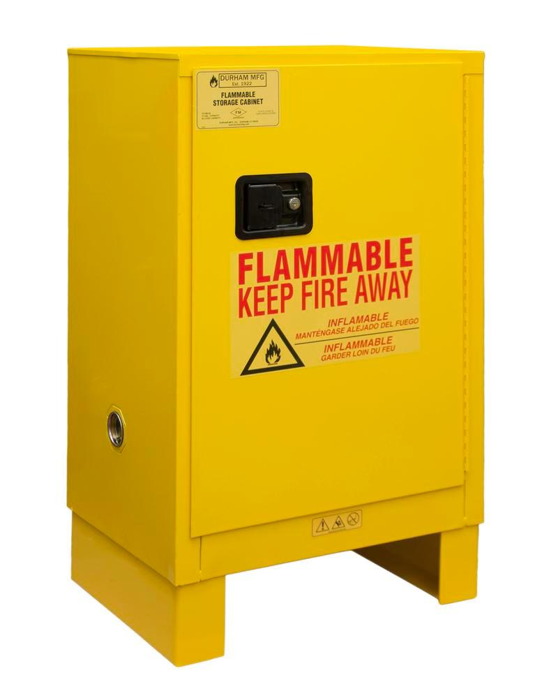 12 Gallon Flammable Safety Cabinet - FM Approved - Manual Closing with Legs