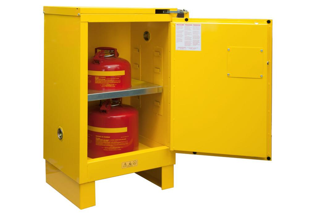 12 Gallon Flammable Safety Cabinet - FM Approved - Self-Closing with Legs