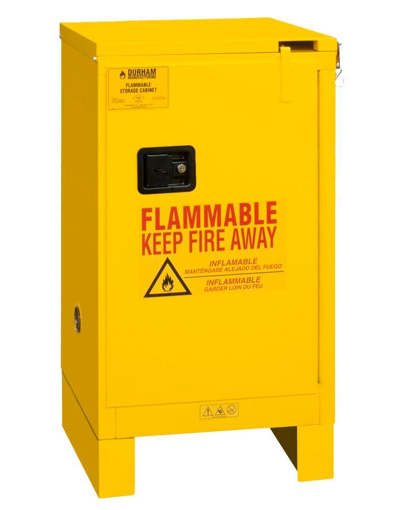 16 Gallon Flammable Safety Cabinet - FM Approved - Self-Closing with Legs