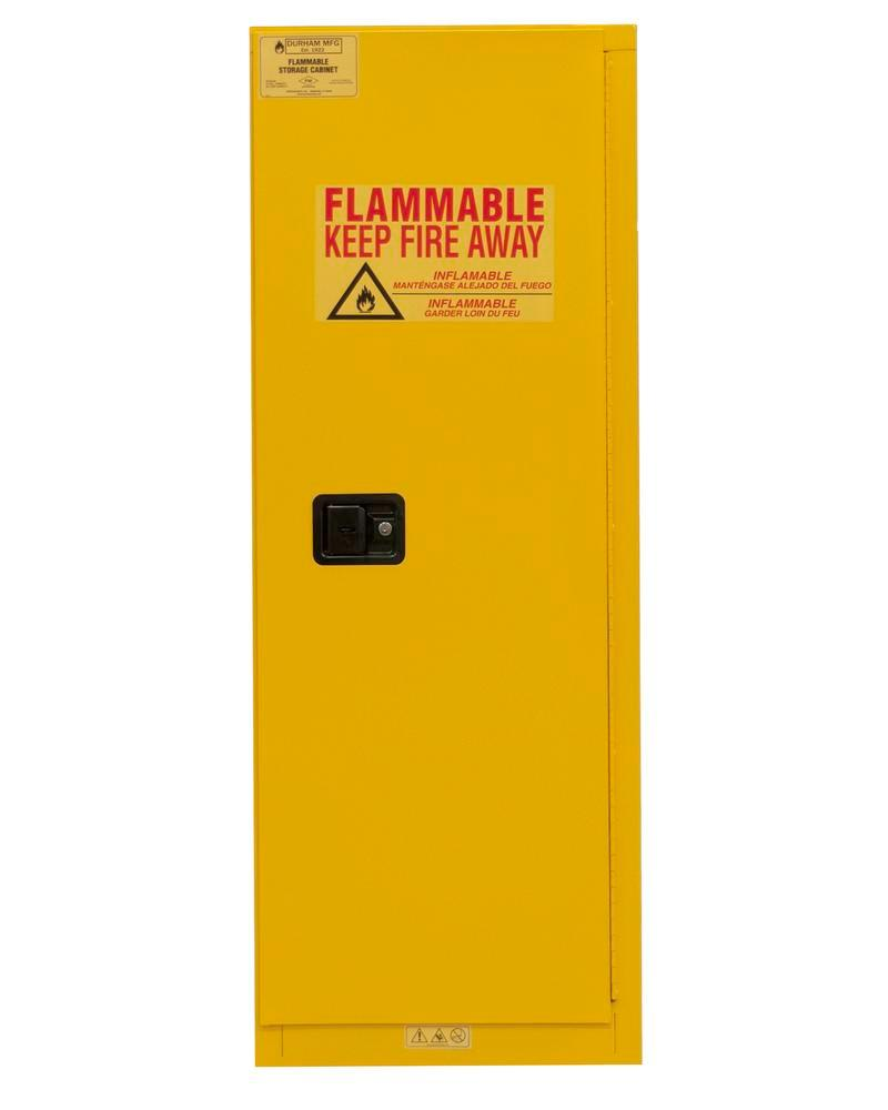 22 Gallon Flammable Safety Cabinet - FM Approved - Manual Closing