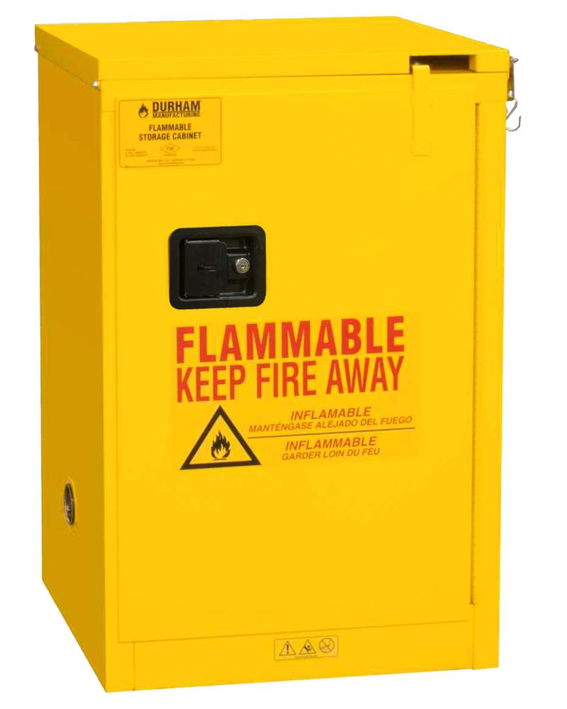 4 Gallon Flammable Safety Cabinet - FM Approved - Self-Closing - Countertop