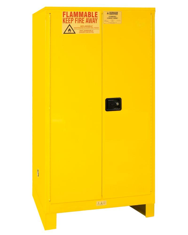 60 Gallon Flammable Safety Cabinet - FM Approved - Manual Closing with Legs