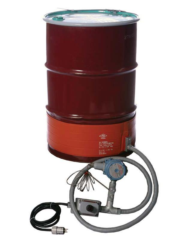 Explosion Proof Strip Heater - Steel Drum - 55 Gallon - 120V - T3 Environment