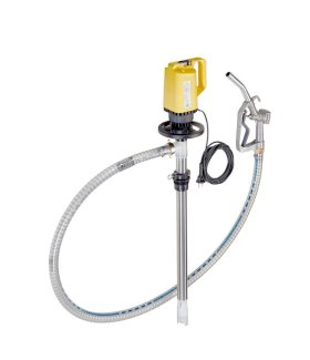 """Lutz Pump - for Oils and Diesel Fuels - 39"""" - Electric - High Resistant PVC Hose Included-w280px"""