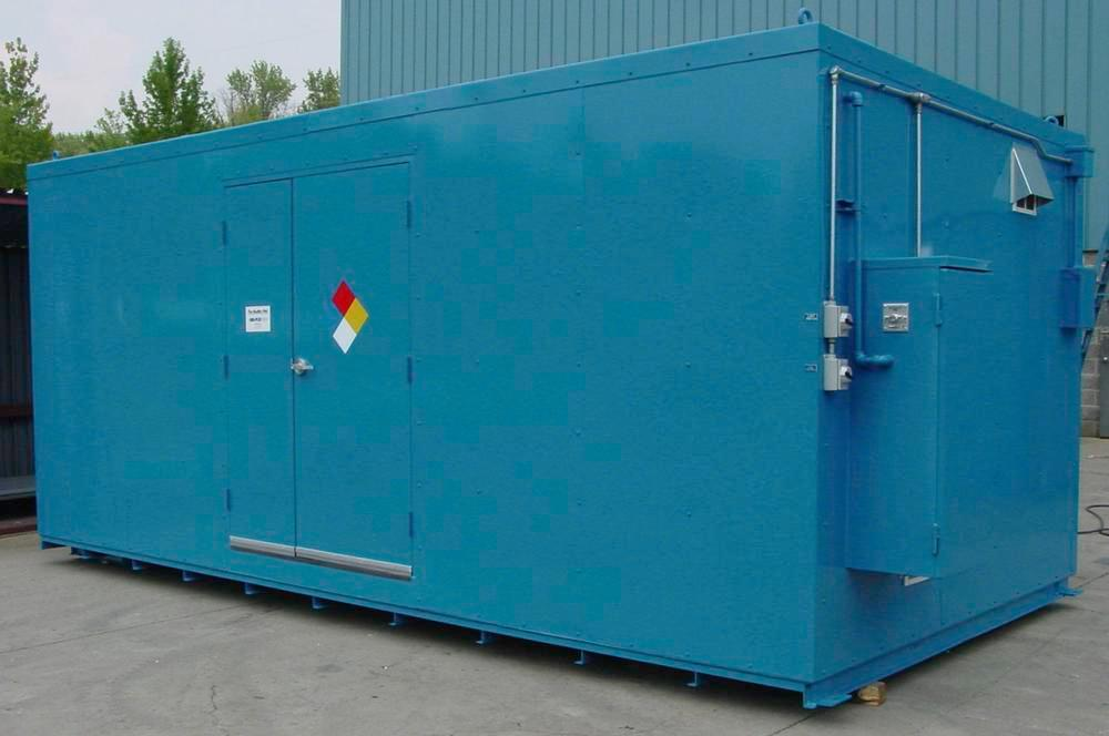10' Chemical Storage Building - FM Approved - 20 Drum Capacity - Hinged Doors - Indoor or Outdoor - 2