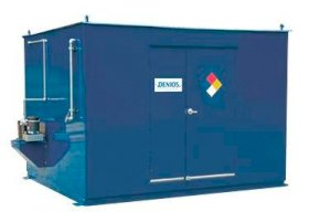 10' Chemical Storage Building - FM Approved - 28 Drum Capacity - 2 Hour Fire Rated - Hinged Doors-w280px