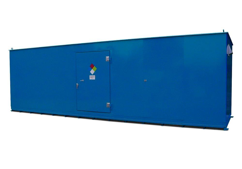 10' Chemical Storage Building - FM Approved - 52 Drum Capacity - Hinged Doors - Indoor or Outdoor - 1
