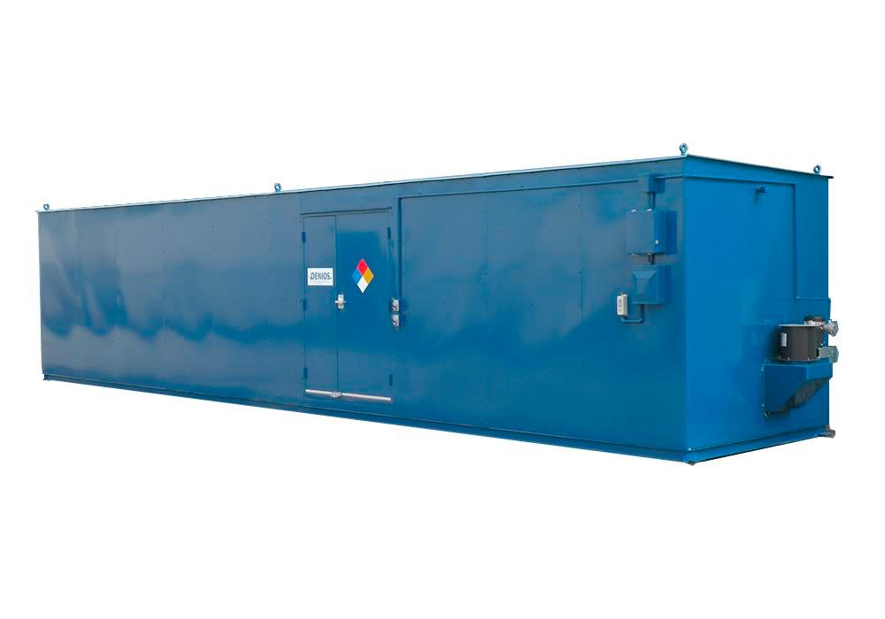 8' Chemical Storage Building - FM Approved - 69 Drum Capacity - 2 Hour Fire Rated - Hinged Doors