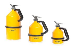 Dispensing Safety Can - 1-Liter - Steel - Fine Measuring Tap - Powder-Coated Yellow-w280px
