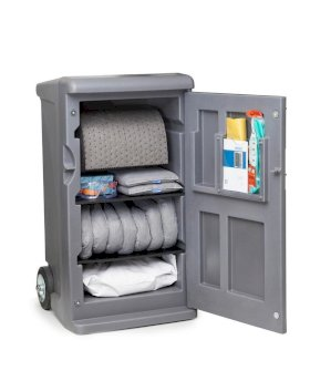 Emergency Spill Kit Caddy - Universal - Medium - Absorbs 100 Gallons - Lockable-w280px