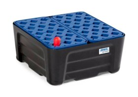 Poly Spill Containment Tray - 20 Liter - with Grating - Leak Indicator - Chemically Resistant-w280px