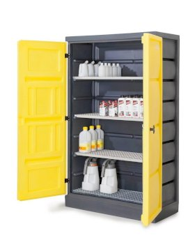 PolyStore Chemical Storage Cabinet - Stainless Steel Shelf - W 120 cm - Compliant Sump - PS 1220-4-w280px