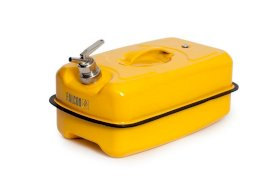 Safety Container - 20-Liter - Steel - Powder-Coated Yellow - Fine Dispensing Tap-w280px