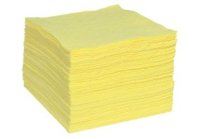 """Hazmat Absorbent Pads - Heavy Weight - 15"""" x 19"""" - Sonic Bonded - Yellow-w280px"""
