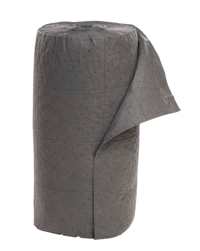 """Universal Absorbent Rolls - Medium Weight - 30"""" x 150' - Perforated - Gray - 1"""