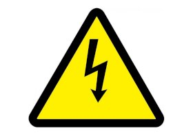 "ISO Warning Safety Sign: Electric Voltage Hazard (2011) - Plastic - 6""-w280px"