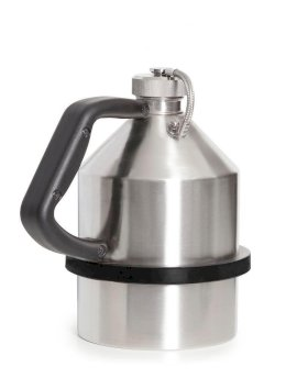 "Safety Can - 1-Liter - Stainless Steel - Screw Lid - G1 1/4"" Thread - Pressure Relief Valve-w280px"