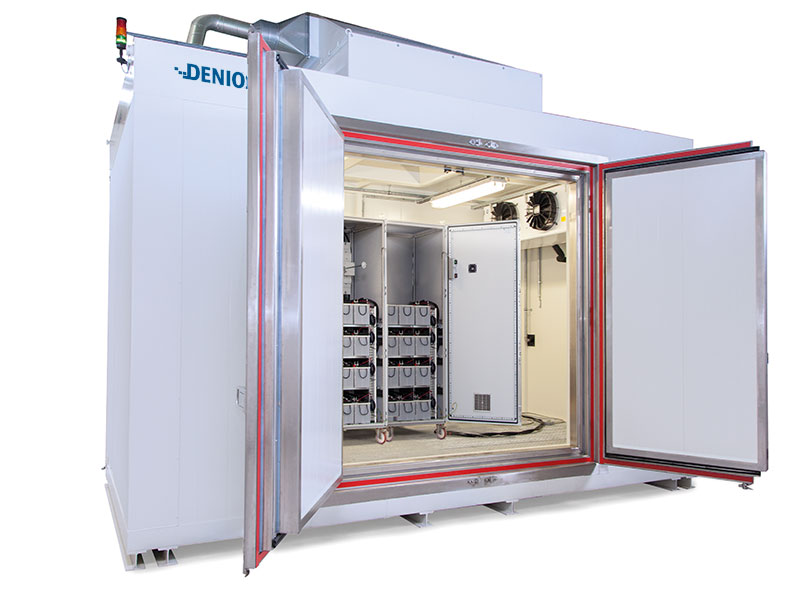 Li-Ion battery test rooms and storage