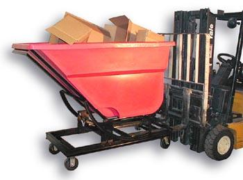 Poly fork lift hopper