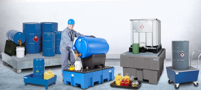Storing Hazard Substances with Spill Pallets